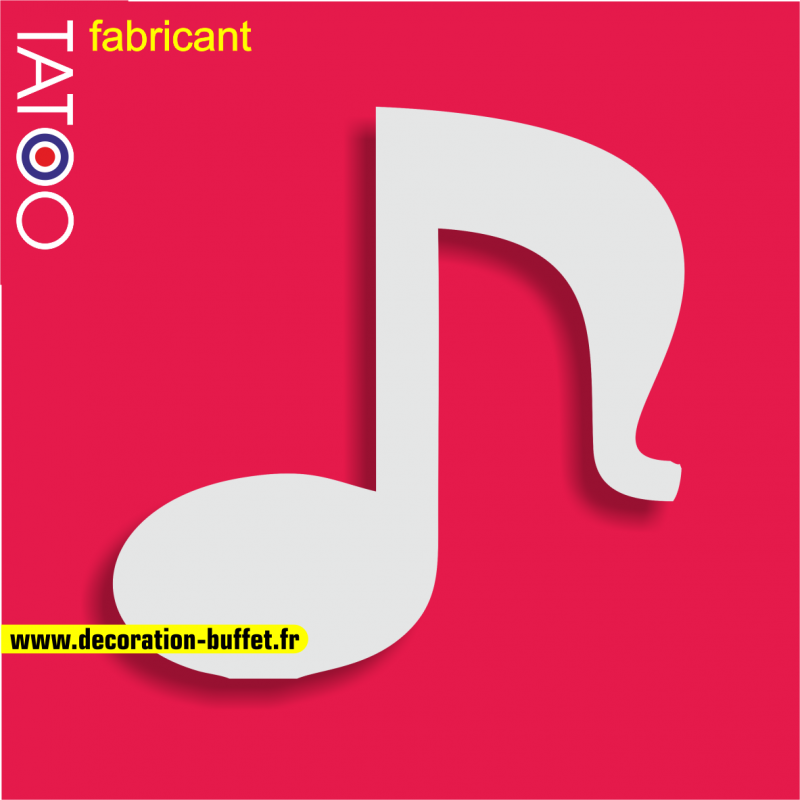 support polystyrène bonbons note musique partition