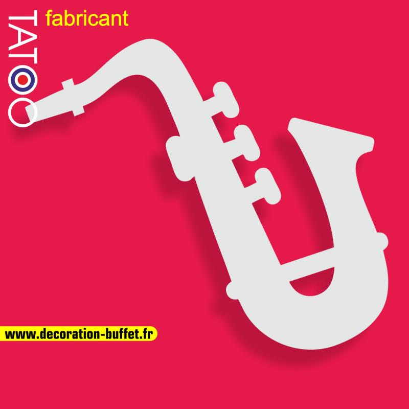 support polystyrène bonbons saxophone musique jazz