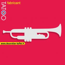support polystyrène bonbons trompette clairon musique jazz