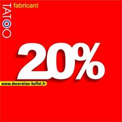 Chiffre 20% en polystyrène pour affichage de vitrines de magasin