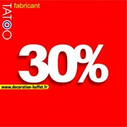 Chiffre 30% en polystyrène pour affichage de vitrine de magasin