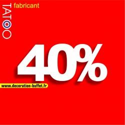 Chiffre 40% en polystyrène pour affichage de vitrine de magasin