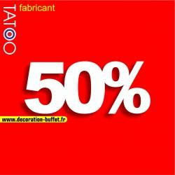 Chiffre 50% en polystyrène pour l'affichage dans les vitrines de magasin