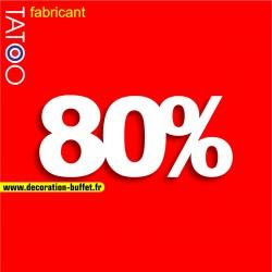 Chiffre 80% en polystyrène pour l'affichage dans les vitrines de magasins