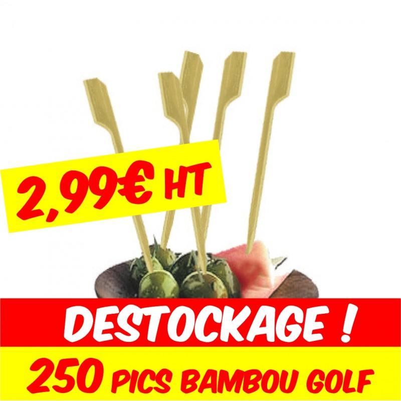 pic bambou golf pour brochettes de cocktail lunch apéritif