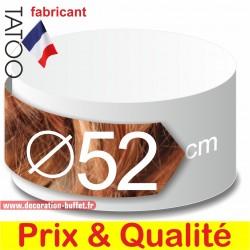 Rond en polystyrène diamètre 52 cm. Choisissez parmi les épaisseurs 3, 4, 5, 7, 10, 15, 20, 25 cm.