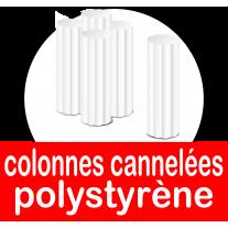 Colonnes crenelées en polystyrène de plusieurs diamètres