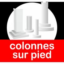 Colonnes sur pied en polystyrène de plusieurs diamètres
