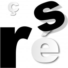 Lettres minuscules polystyrène ou pvc