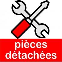 Pièces détachées pour présentoirs de réception en PVC