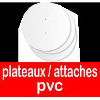 Plateaux et supports et pièces détachées pour présentoirs en PVC