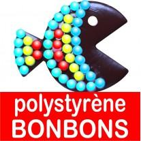 polystyrène bonbons
