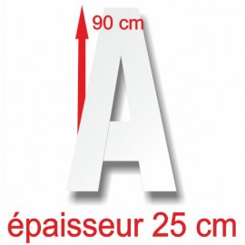 - Lettres majuscules polystyrène hauteur 90 cm épaisseur 25 cm