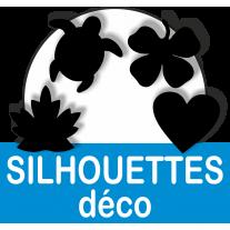 SILHOUETTES EN PVC BLANC
