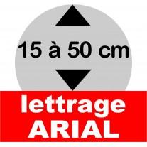 Lettrage polystyrène et pvc 15 à 50 cm