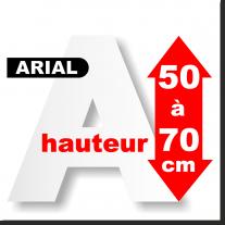 Majuscules polystyrène 50 à 70 cm