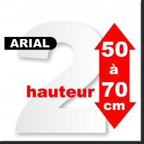 Chiffres polystyrène 50 à 70 cm