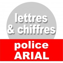 Lettres et chiffres police ARIAL