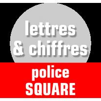 Lettres et chiffres police square