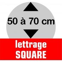 Lettrage SQUARE de 50 à 70 cm