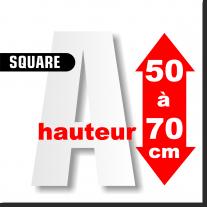 Majuscules SQUARE de 50 à 70 cm
