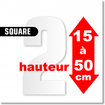 Chiffres SQUARE de 15 à 50 cm