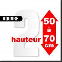Chiffres SQUARE DE 50 à 70 cm