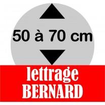 Lettrage BERNARD de 50 à 70 cm