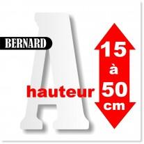 Majuscules BERNARD de 15 à 50 cm
