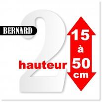 Chiffres BERNARD de 15 à 50 cm