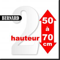 Chiffres BERNARD de 50 à 70 cm