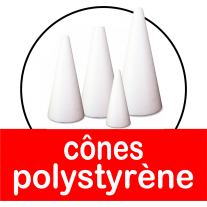 Cônes polystyrène