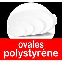 Bases et socles ovales pour présentoirs en polystyrène