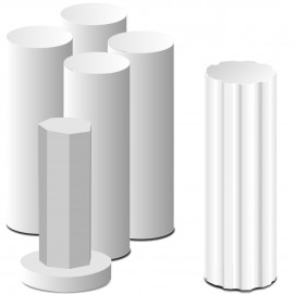 Colonnes polystyrène