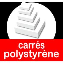 Carrés polystyrène