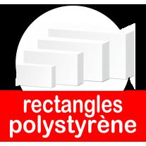 Bases et socles rectangles pour présentoirs en polystyrène