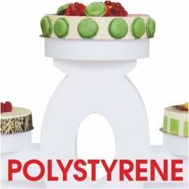 - présentoir à gâteaux polystyrène