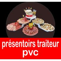 Présentoirs pour traiteurs en PVC, buffet, charcuterie, socles