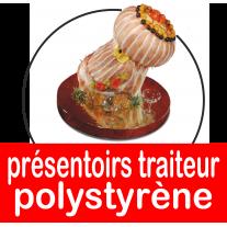 Présentoirs pour traiteurs en polystyrène, buffet, charcuterie, socles