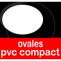 Ovales en pvc compact adaptés au contact alimentaire