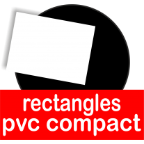 Rectangles en pvc compact adaptés au contact alimentaire