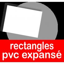 Rectangles en PVC expansé